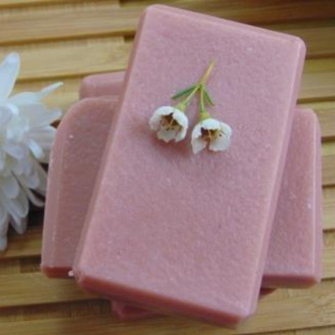 Geranium Rose Soap with flower