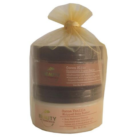 body butter body scrub gift set