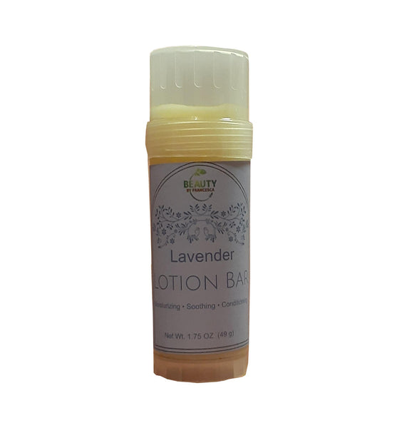 lavender lotion bar closed top