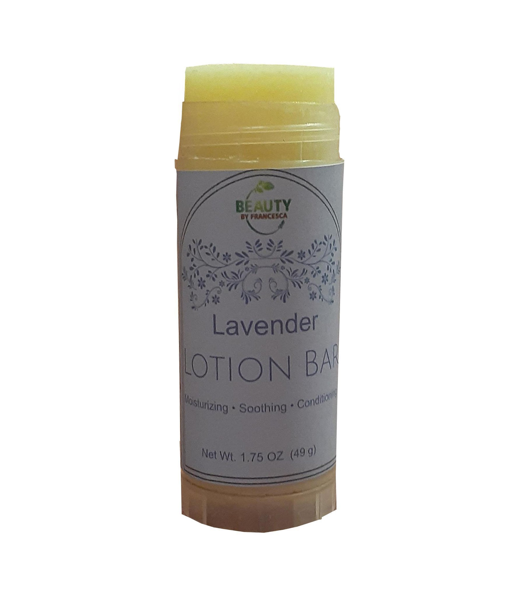 lavender lotion bar open view