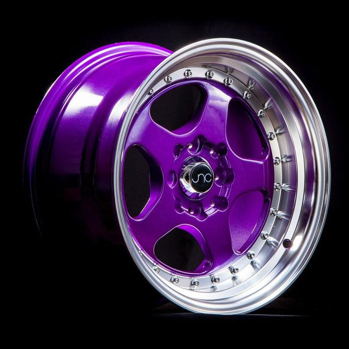 JNC010 Candy Purple Machined Lip - JNC Wheels
