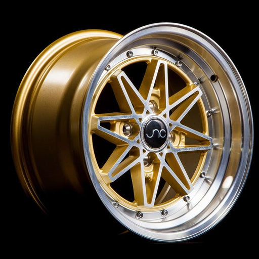 JNC002 Gold Machined Face - JNC Wheels
