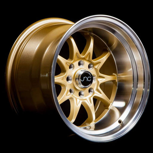 JNC003 Gold Machined Lip - JNC Wheels