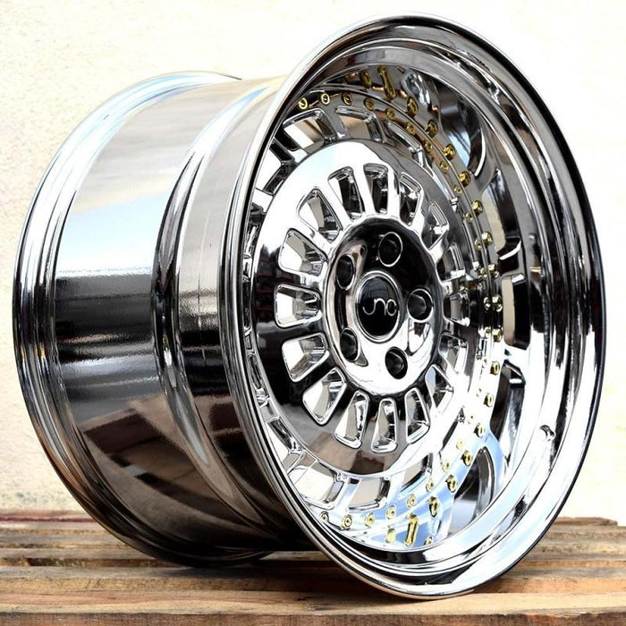 JNC046 Platinum w/ Gold Rivets - JNC Wheels