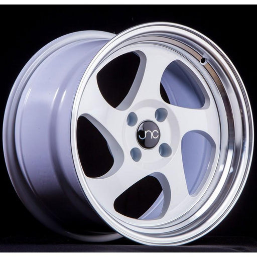 JNC034 White Machined Lip - JNC Wheels