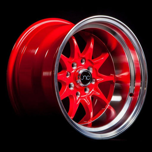 JNC003 Red Machined Lip - JNC Wheels