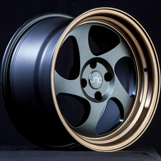 JNC034 Matte Black Bronze Lip - JNC Wheels