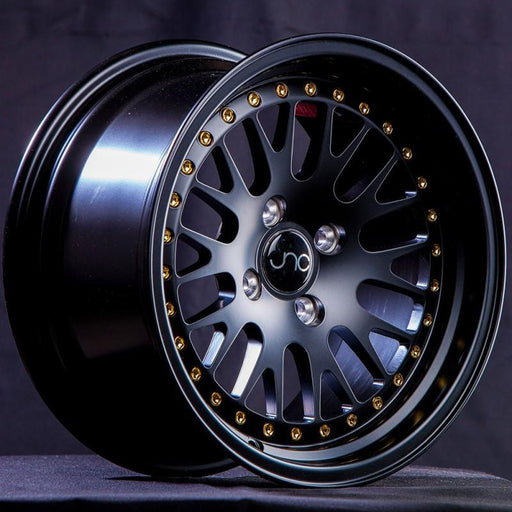 JNC001 Matte Black w/ Gold Rivets - JNC Wheels