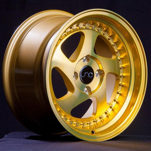 JNC034 Transparent Gold Gold Rivets - JNC Wheels