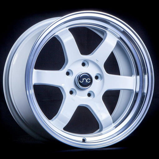 JNC013 White Machined Lip - JNC Wheels