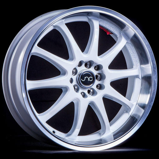 JNC019 White Machined Lip - JNC Wheels
