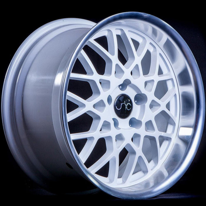 JNC016 White Machined Lip - JNC Wheels
