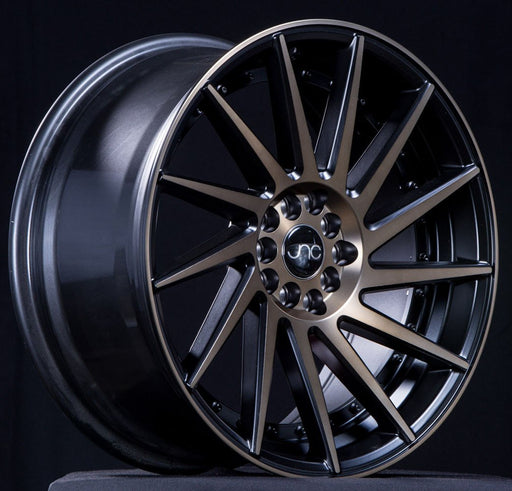JNC051 Matte Black/Bronze Face/Black Rivets - JNC Wheels