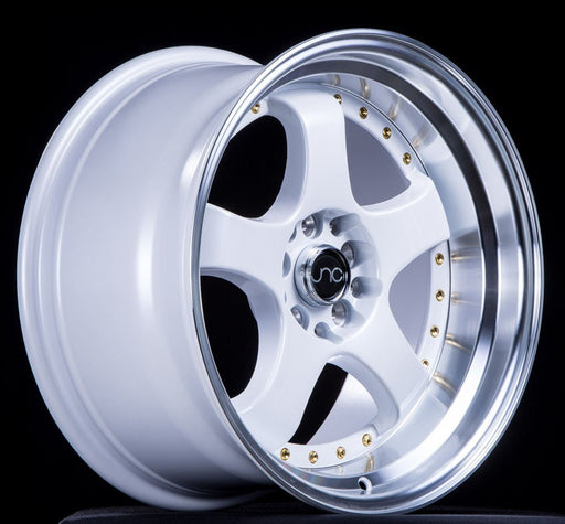 JNC017 White Machined Lip - JNC Wheels