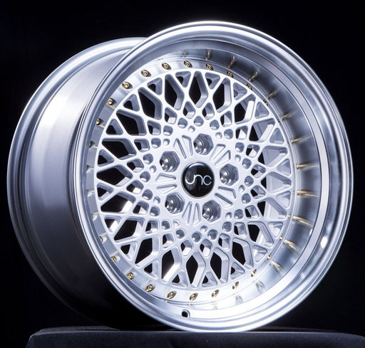 JNC045 Silver Machined Lip w/ Gold Rivets - JNC Wheels