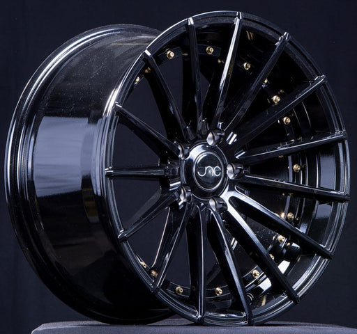 JNC042 Gloss Black Gold Rivets - JNC Wheels