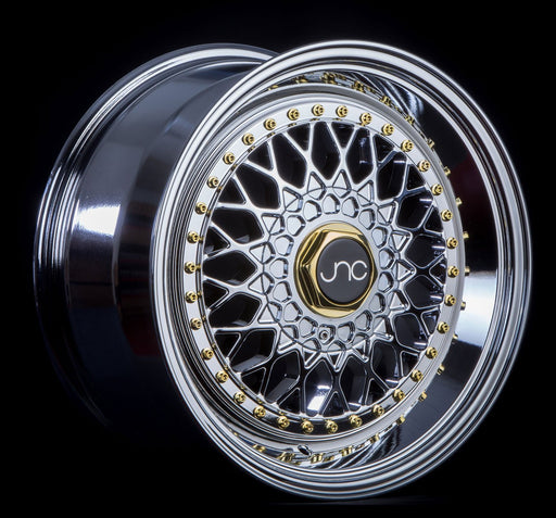 JNC004S Hyper Black Gold Rivets - JNC Wheels