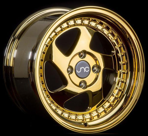 JNC034 Platinum Gold Gold Rivets - JNC Wheels
