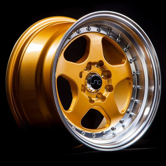 JNC010 Gold Machined Lip - JNC Wheels