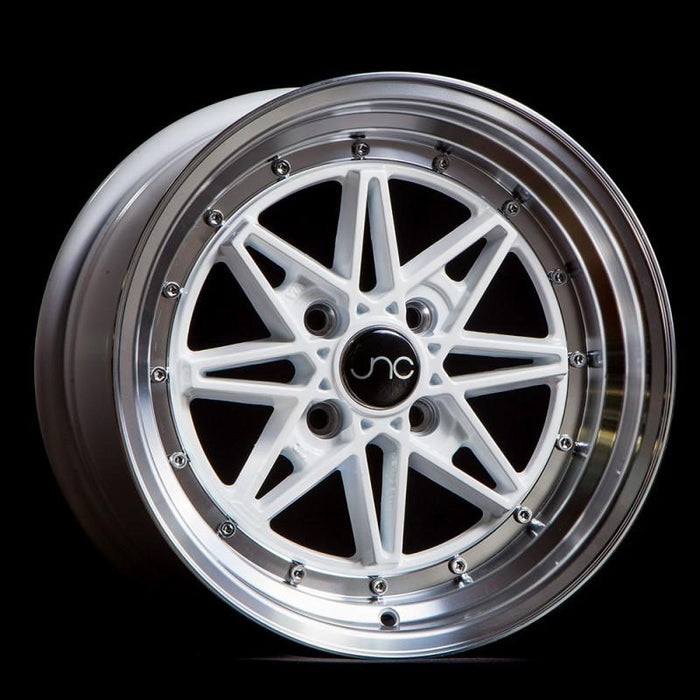 JNC002 White Machined Lip - JNC Wheels