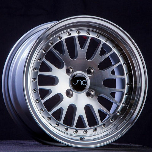 JNC001 Silver Machined Face - JNC Wheels
