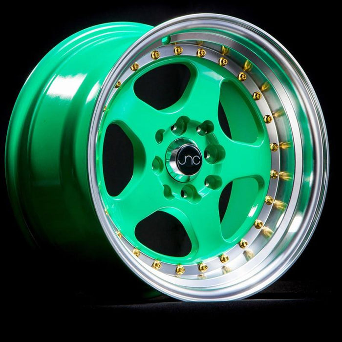 JNC010 Wasabi Green w/ Gold Rivets - JNC Wheels