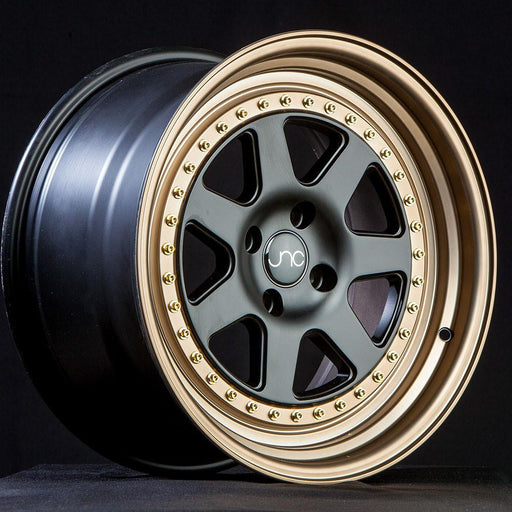 JNC048 MATTE BLACK BRONZE LIP - JNC Wheels