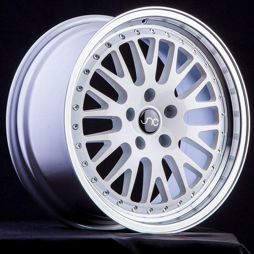 JNC001 White Machined Lip - JNC Wheels