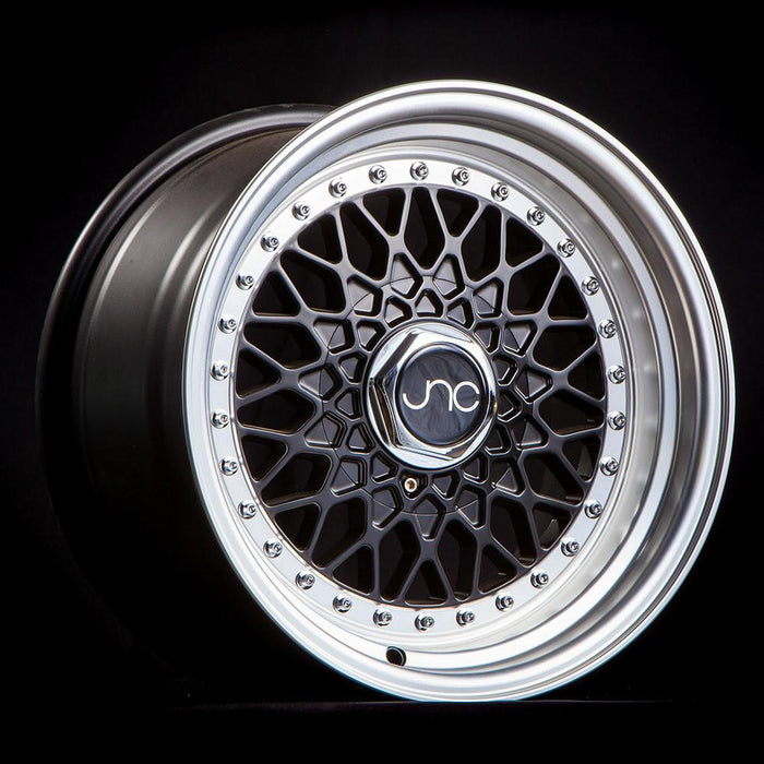 JNC004 Matte Black Machined Lip - JNC Wheels