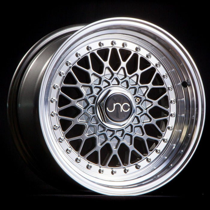 JNC004 Gunmetal Machined Lip - JNC Wheels