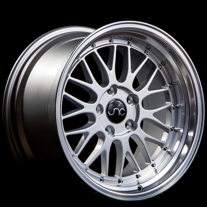 JNC005 Silver Machined Lip - JNC Wheels