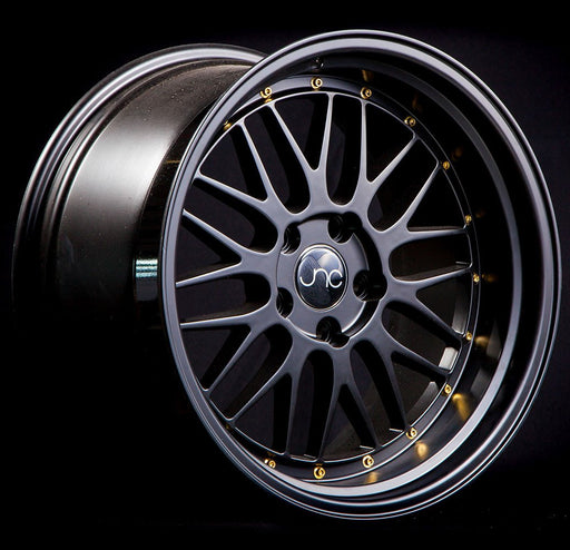 JNC005 Black Gold Rivets - JNC Wheels