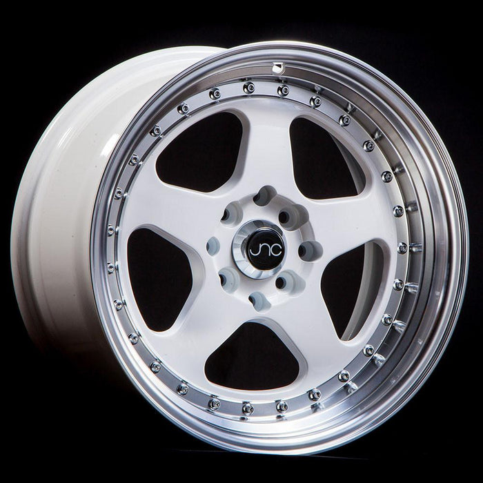 JNC010 White Machined Lip - JNC Wheels