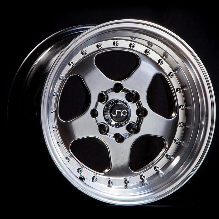 JNC010 Gunmetal  Machined Lip - JNC Wheels