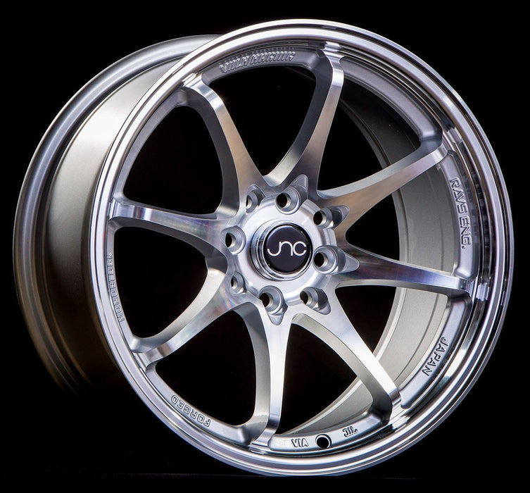 JNC006 Silver Machined Face - JNC Wheels