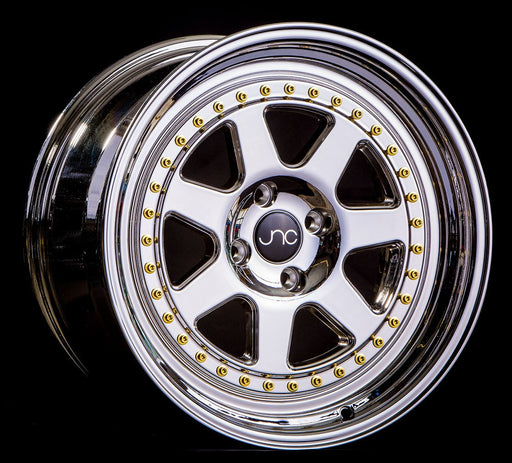 JNC048 PLATINUM WITH GOLD RIVETS - JNC Wheels