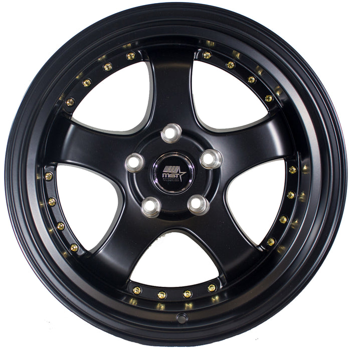 MT07 Matte Black w/ Gold Rivets
