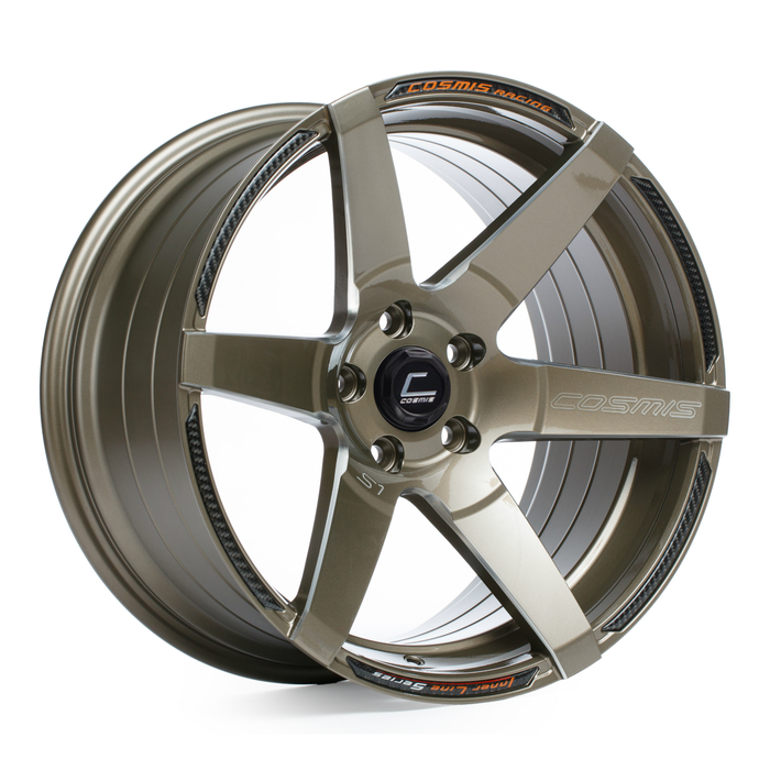 S1 Bronze Wheel w/ Milled Spokes 18x10.5 +5mm 5x114.3