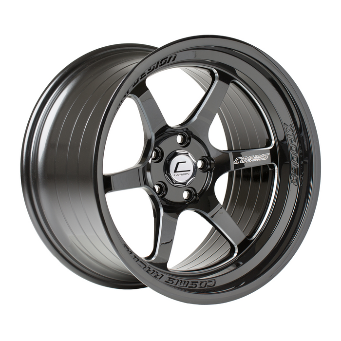 XT-006R Black w/ Machined Spokes Wheel 18x11 +8mm 5x114.3