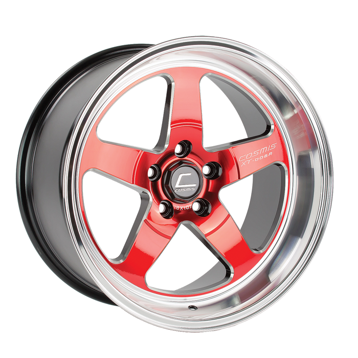 XT-005R Wheel Red w/ Machined Lip 18x10 +20mm 5x114.3