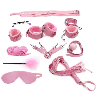 Evening Thrill Bondage Kit - 11 Piece