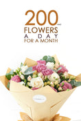 200 AED of flowers a day for a month