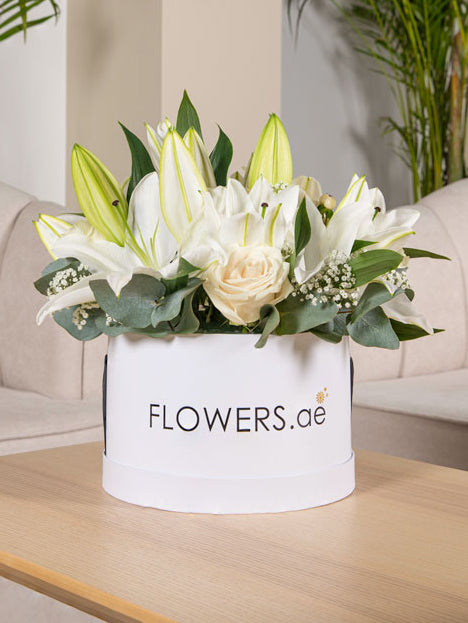 Perfect White Hatbox - with a choice of our Fragrant Candle