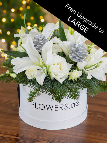 Christmas Perfect White Hatbox free upgrade to Large - Automatically applied after checkout