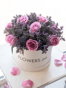 Purple Floral Hatbox (Welcome Home Gift Set)
