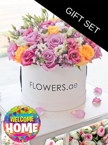 Pastel Floral Hatbox (Welcome Home Gift Set)