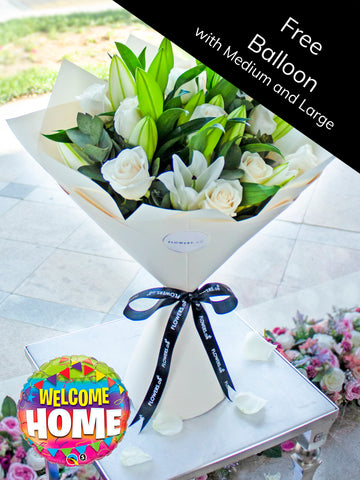 Wonderfully White Hand-tied (Welcome Home Gift Set)