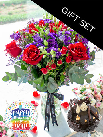 Graceful Beauty in a Vase (Birthday Gift Set)