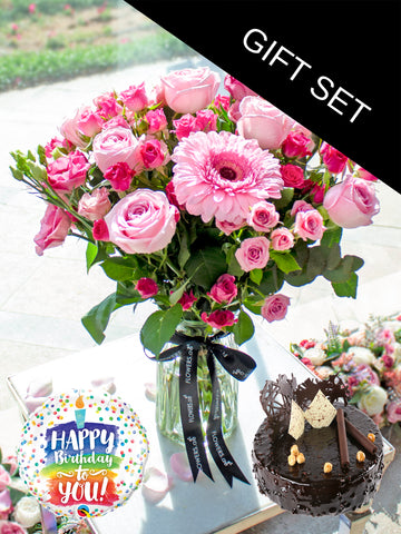 Pink Perfection in a Vase (Birthday Gift Set)
