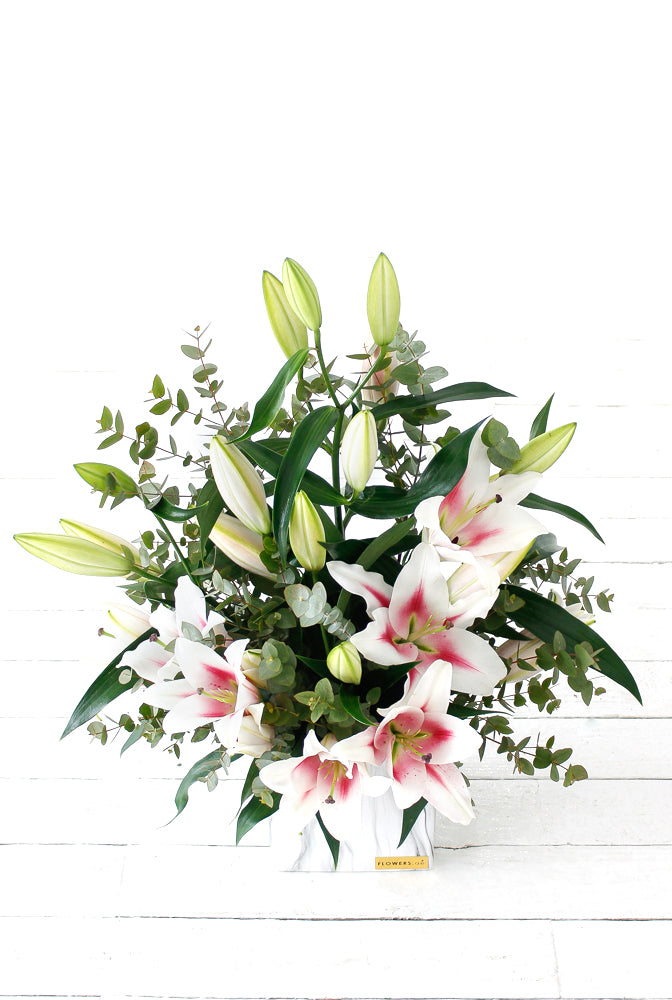 Pink Scented Lily Vase (Welcome Home Gift Set)